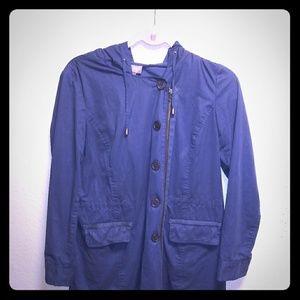 J.jill blue drawstring jacket size small